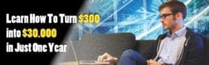 Learn How To Turn $300 into 30.000 in Just One Year